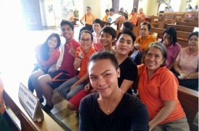 Libis Community BEC delegates with Coordinator Tiny Perfecto attend the Jubilee for BECs at the Cubao Diocese in Lantana, Cubao last August 27, 2016