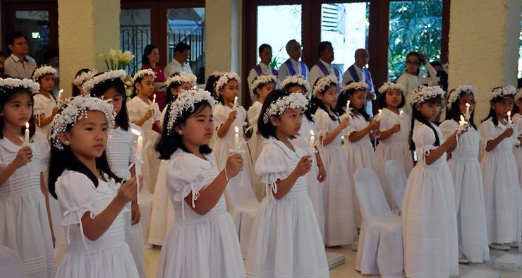 first communion christ the king parish church greenmeadows quezon