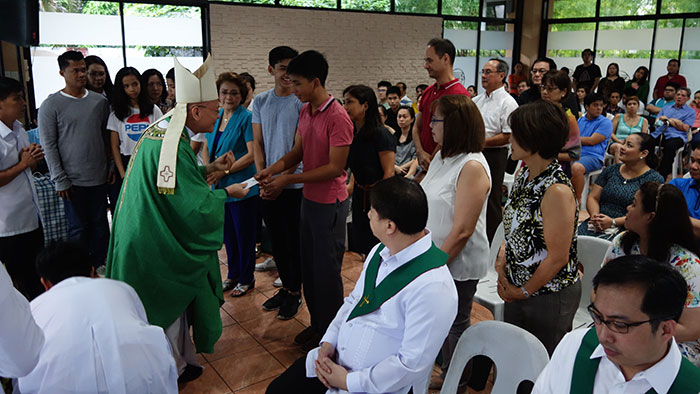 Stewardship donations at Acropolis chapel during Bishop Ongtioco's stewardship mass last August.