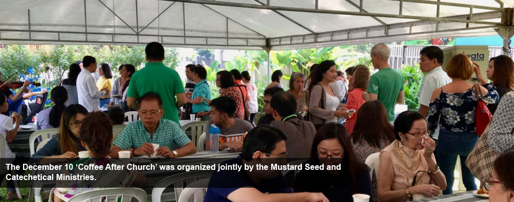 The December 10 'Coffee After Church' was organized jointly by the Mustard Seed and Catechetical Ministries.