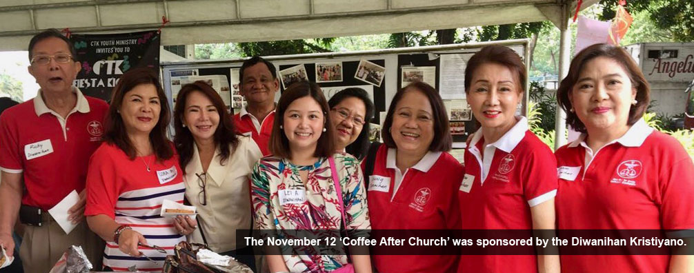 The November 12 'Coffee After Church' was sponsored by the Diwanihan Kristiyano.